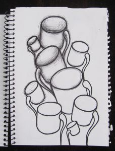 Coffee Cups Sketch WS