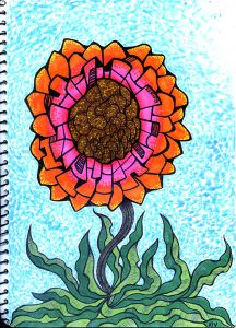 Flower Inktober Sam Serif WEB