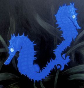 Seahorses-blue