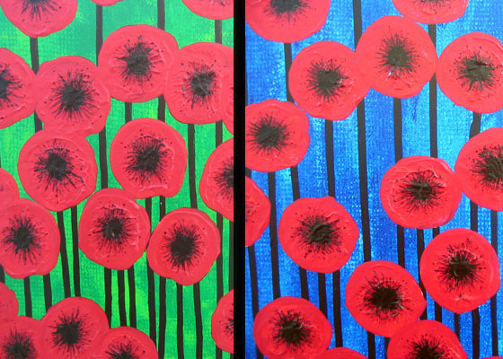 red poppies paintings for trinity