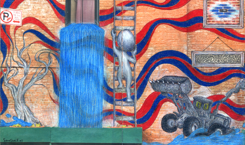 urban renewal, walls notebook, sam serif