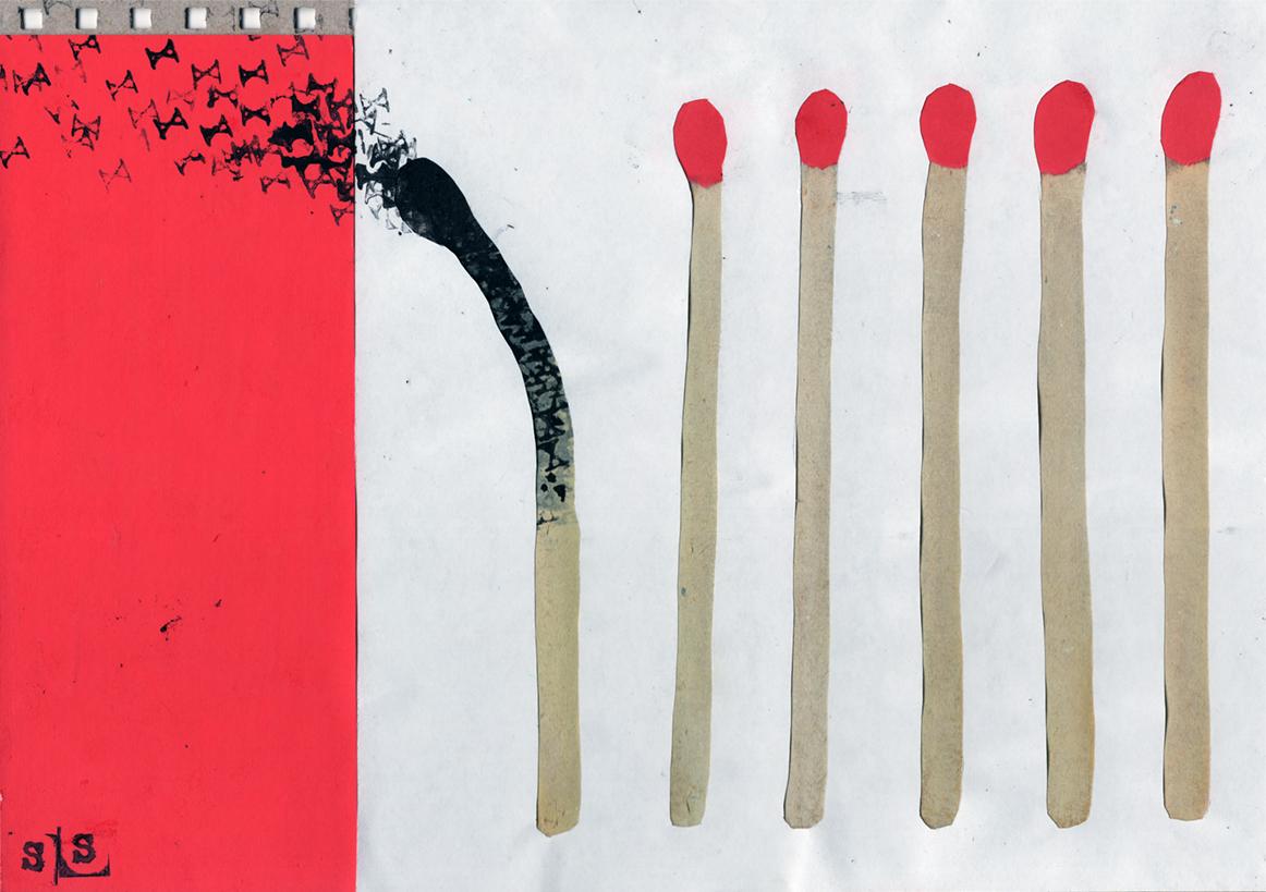 #matches #burnout #X #collage #samserif
